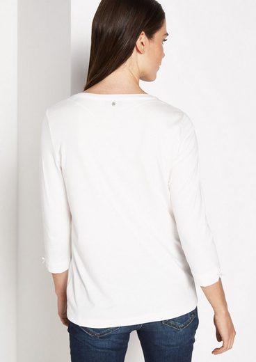 COMMA 3/4-Arm Jerseyshirt mit Statement-Print