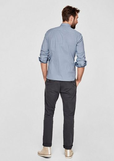 s.Oliver RED LABEL Slim: Hemd mit Allover-Muster