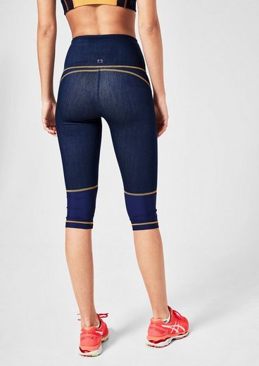 s.Oliver ACTIVE Sports 3/4-Tights Denim