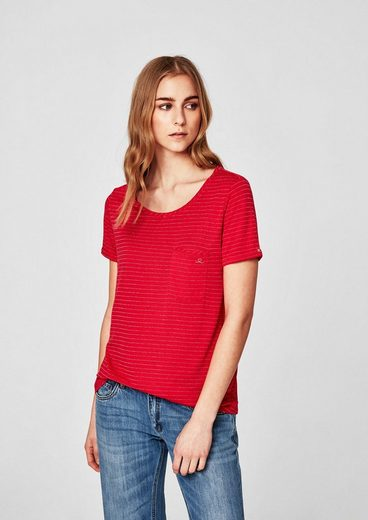 s.Oliver RED LABEL T-Shirt mit Lurexstreifen