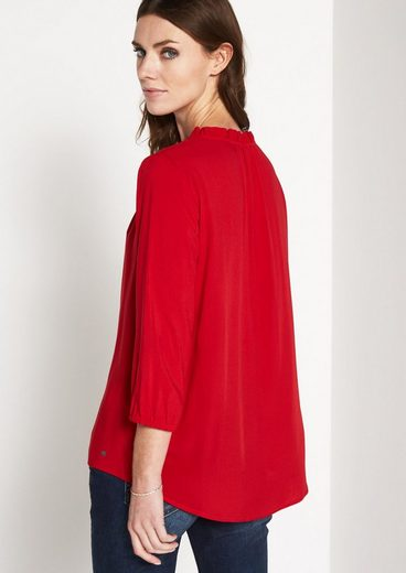 Comma Permeable 3/4 Arm Blouse Rüsch With Ornaments