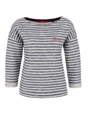 s.Oliver RED LABEL Sweatshirt mit Streifen