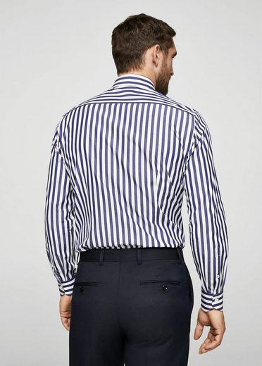 Mango Is Slim Fit Tailored-shirt With Stripes