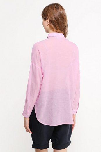 Finn Flare Langarm-Hemdbluse mit Brusttaschen