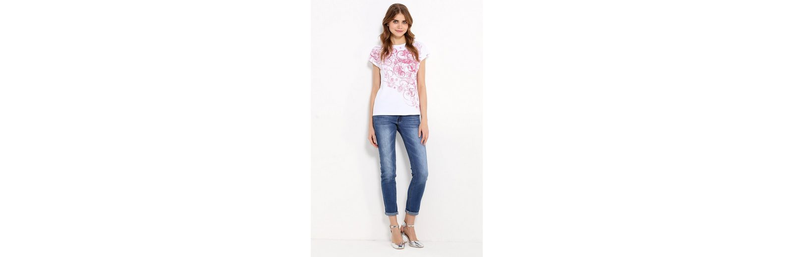 Flare Finn T T Flare modischem mit Finn Paisley Print Shirt rxxntfq