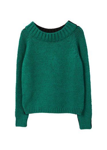 MANGO Zweifarbiger Pullover
