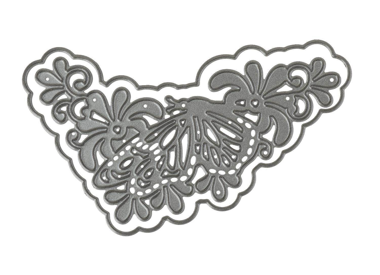 "Stanz- & Prägeschablone ""Schmetterlingsranke"" 9,5 cm x 5 cm"