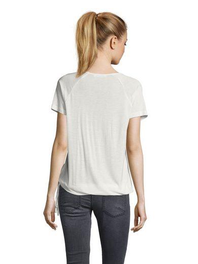 Public Shirt mit Frontprint und Strasssteinen