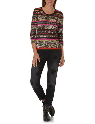 Betty Barclay Shirt mit Allover Patchwork Muster