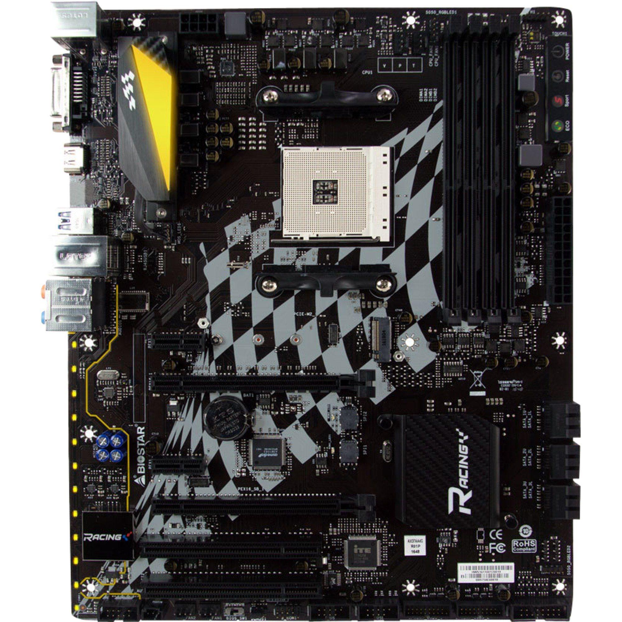 Biostar Mainboard »RACING X370GT5, G-LAN Sound USB 3.1 M.2«