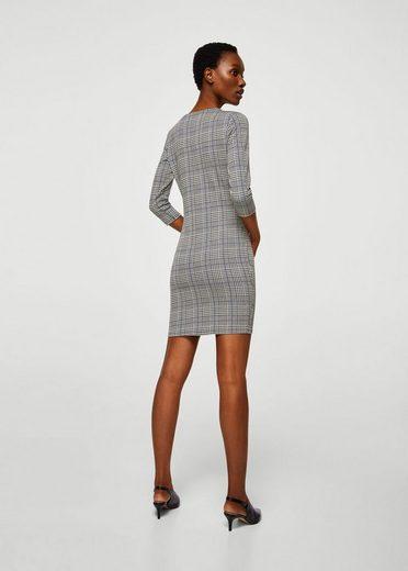 MANGO Schmales, strukturiertes Kleid
