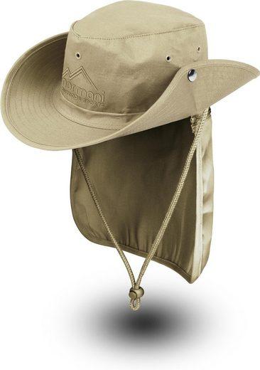 normani Outdoorhut »Buschhut Outback« Schlapphut mit abnehmbarem Nackenschutz Fischerhut Sommerhut Strandhut Wanderhut mit UV Schutz für Damen und Herren