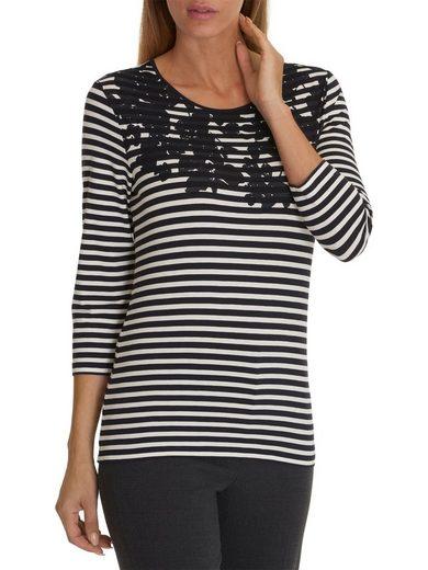 Betty Barclay Shirt mit Allover Streifen und platziertem Print