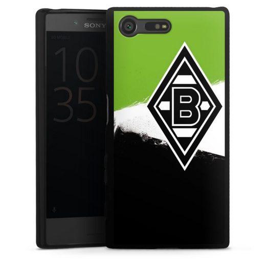 DeinDesign Handyhülle »Borussia Grunge Grün-Weiss-Schwarz« Sony Xperia X Compact, Hülle Gladbach Borussia Mönchengladbach