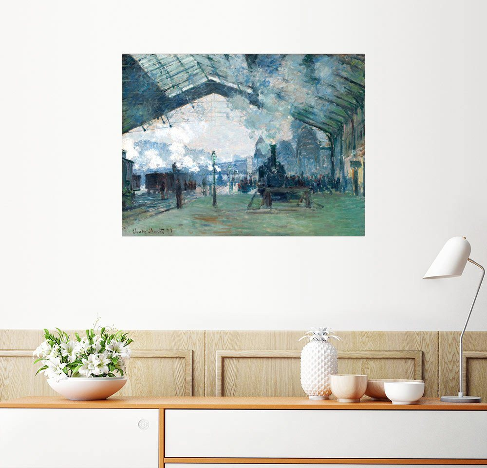 Posterlounge Wandbild - Claude Monet »Bahnhof Saint-Lazare: Der Zug aus der Normandie«