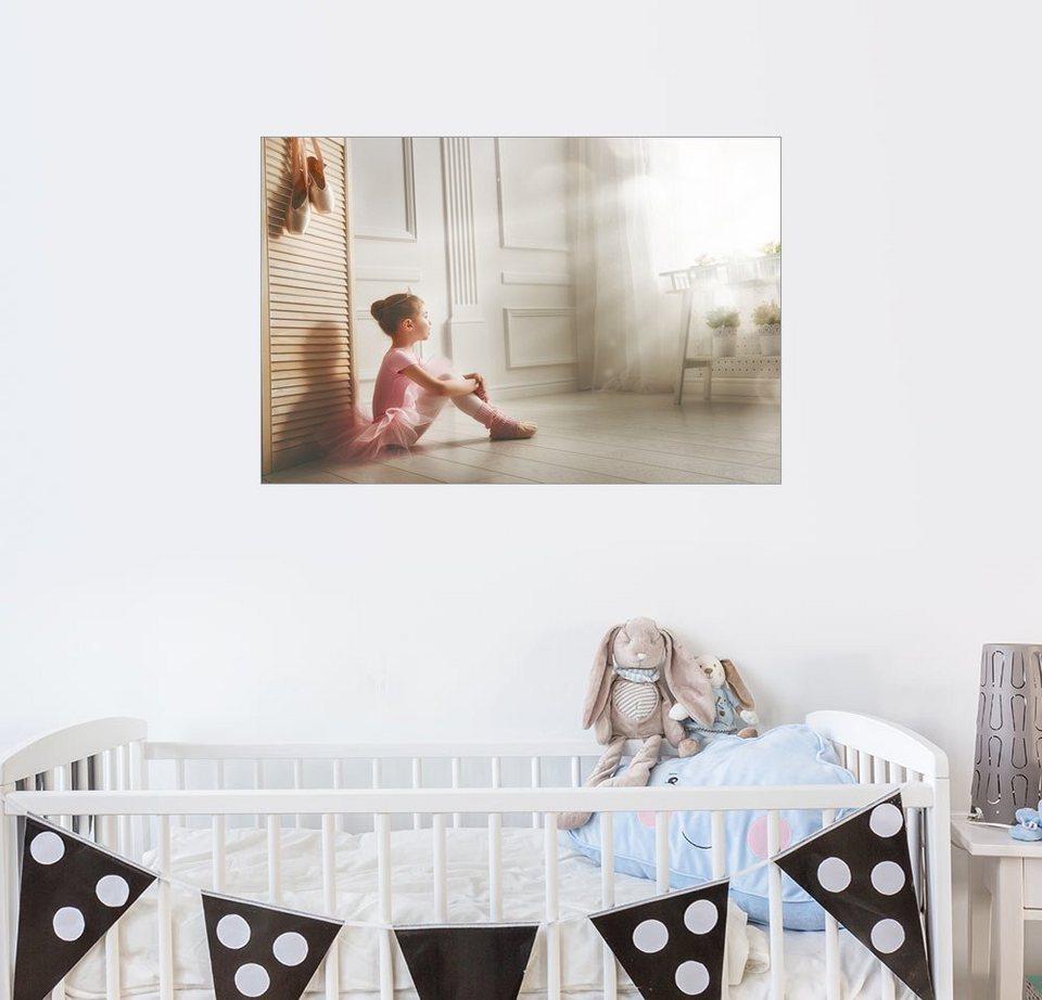 posterlounge wandbild kleine ballerina gro e tr ume online kaufen otto. Black Bedroom Furniture Sets. Home Design Ideas