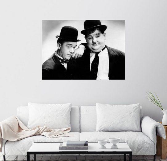 Posterlounge Wandbild »Stan Laurel und Oliver Hardy«