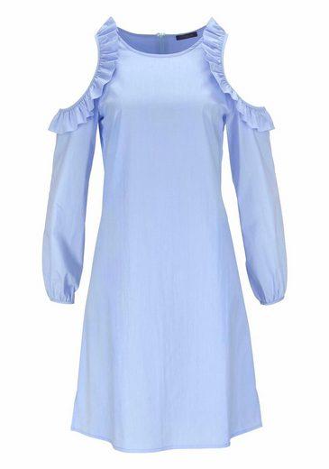 Vivance A-Linien-Kleid, mit modischen Rüschen und Cut-Outs im Schulterbereich
