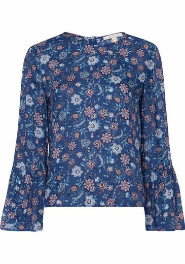 Esprit Print Blouse With Back Button Tape