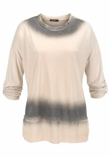 Vivance Oversize-Shirt, mit Chiffon und Glitzer