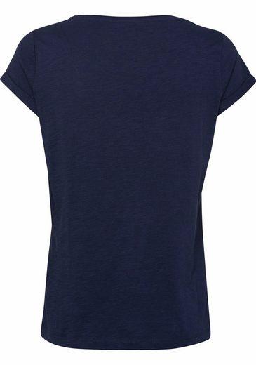 EDC by Esprit T-Shirt, mit Ärmelaufschlag