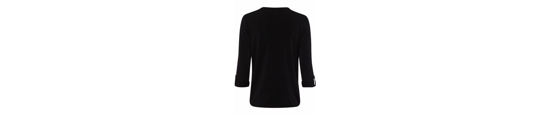 ESPRIT Collection Blusenshirt, mit Spitzeneinsätzen an der Schulternaht