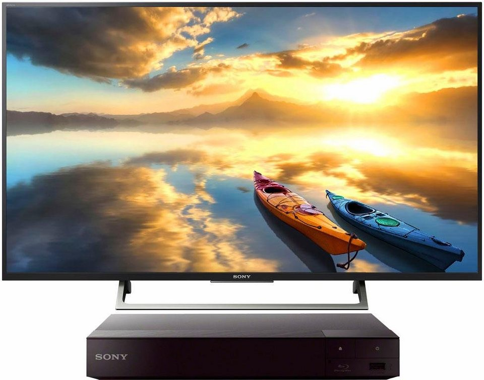 sony sparset kd49xe7005 blu ray player bdps6700b led. Black Bedroom Furniture Sets. Home Design Ideas
