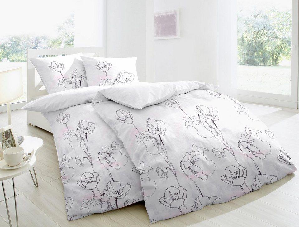 bettw sche dafne primera mit filigranen blumen otto. Black Bedroom Furniture Sets. Home Design Ideas