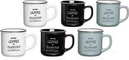 Ritzenhoff & Breker Becher »Best Coffee« (6-tlg), Emaille-Look