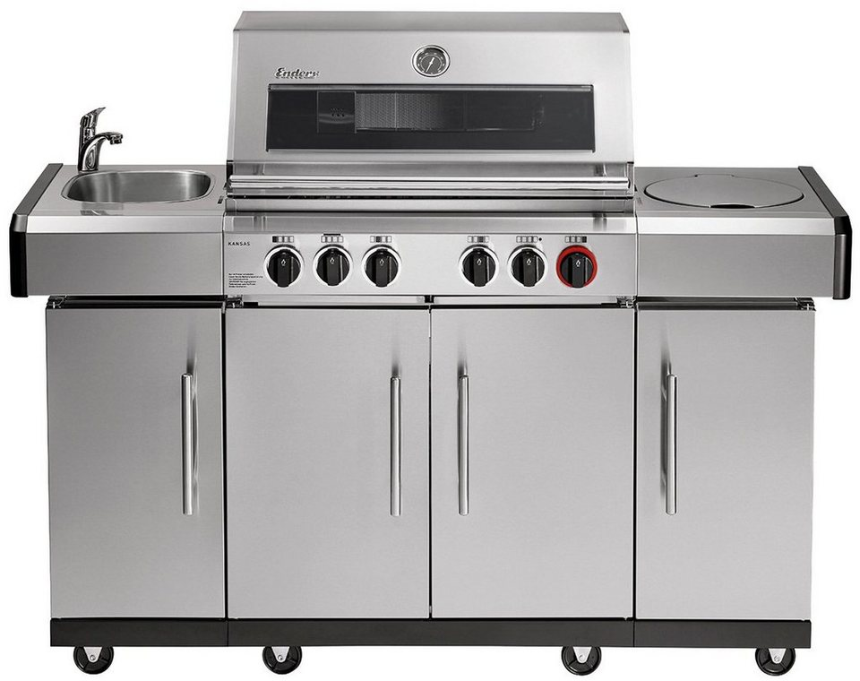 Enders Gasgrill Website : Enders gasgrill »kansas pro 4 sik profi turbo« bxtxh: 153x64x118 cm