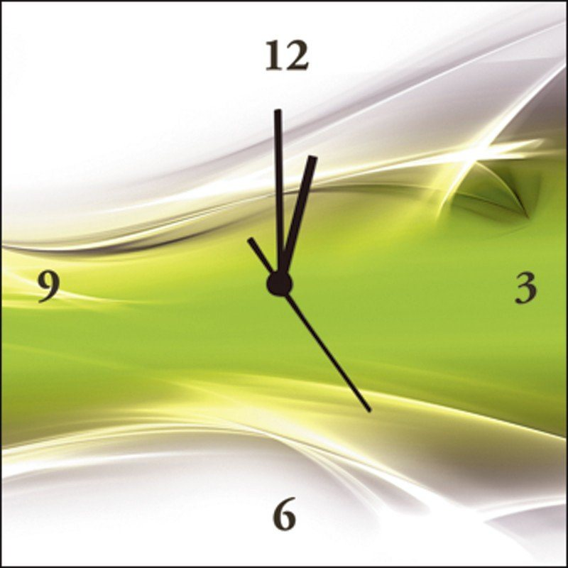 Wanduhr Grün artland wanduhr »designus: kreatives element grün« | otto