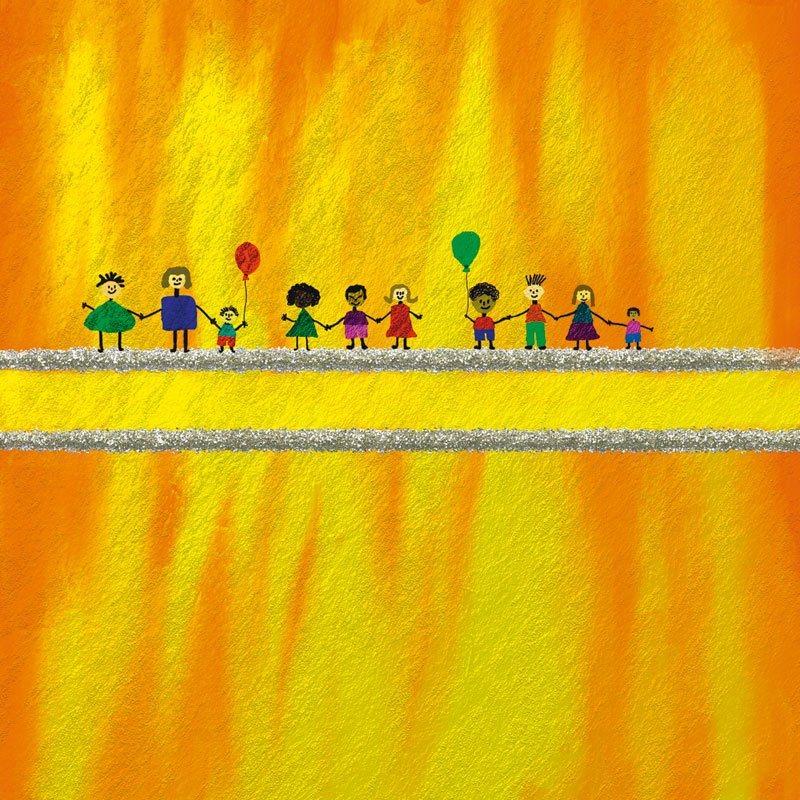 Artland Poster, Leinwandbild »Multikulti Liebe Kindermotive Kinder Malerei«
