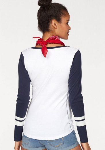 KangaROOS Langarmshirt, im College-Style
