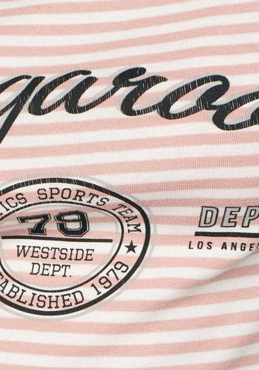 KangaROOS Langarmshirt, mit angesagtem Logo-Print