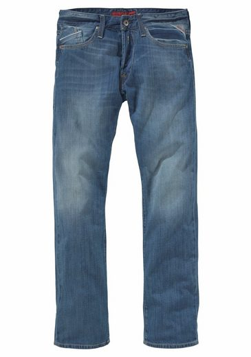 Replay Straight-Jeans Waitom, Washed