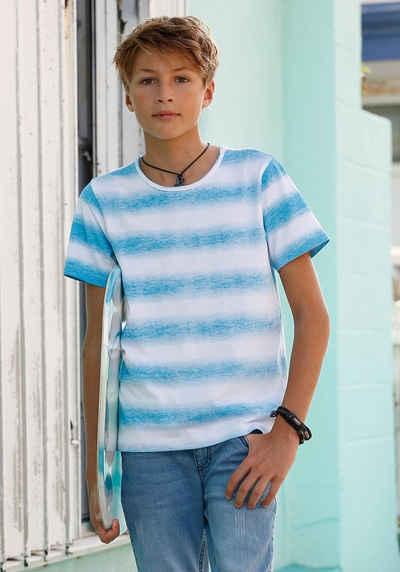 faf131f0bc8fb7 Arizona T-Shirt »Streifenshirt« Streifen auf links gedruckt