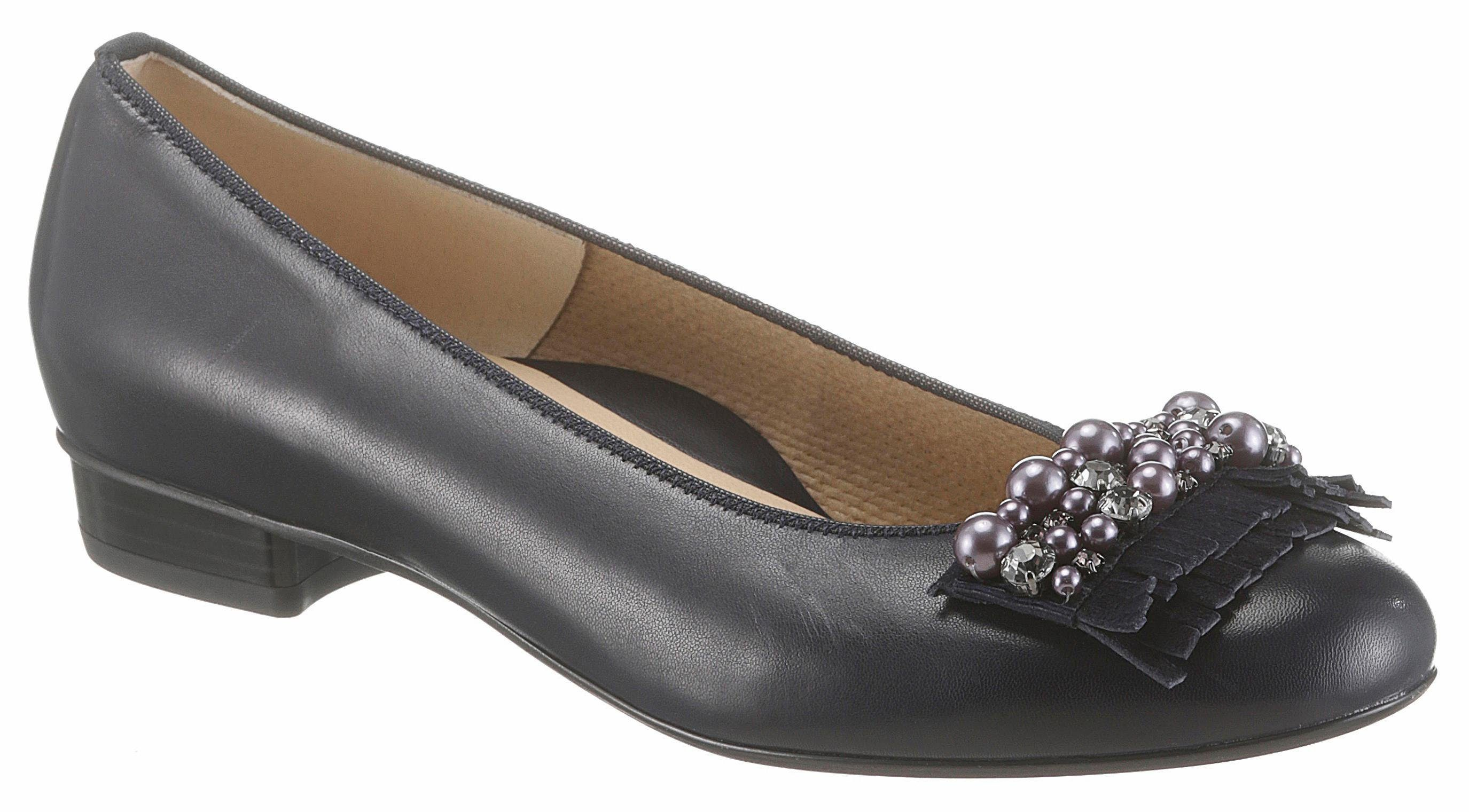 Ara Pumps, in schmaler Schuhweite, mit modischen Perlen und Schmucksteinchen online kaufen  dunkelblau