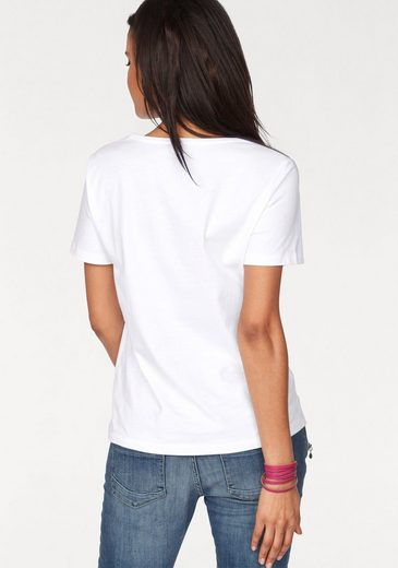 In Linea T-shirt, With Great Glitter Stones And Print Front
