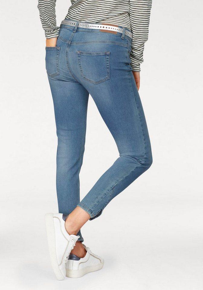 object stretch jeans skinny sarah mit besonderem schlitz. Black Bedroom Furniture Sets. Home Design Ideas