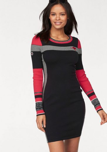 Kangaroos Lace Dress With Stripe Details In Color Blocking Style