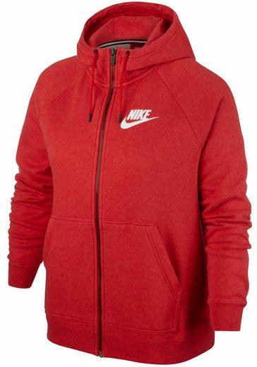 Nike Sportswear Kapuzensweatjacke W NSW RALLY HOODIE FZ SB EXT PLUS SIZE