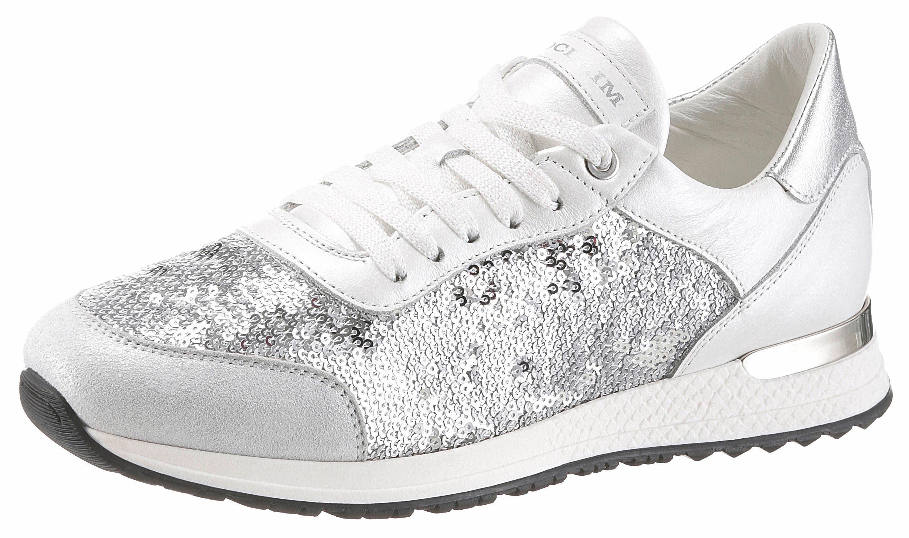 NOCLAIM Sneaker, mit dezenten Metallic-Einsätzen, weiß, 35 35