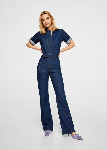 MANGO Jeans-Overall mit Gürtel