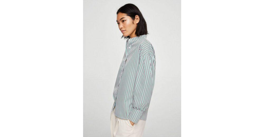 MANGO Streifenhemd mit Mao-Kragen Outlet Günstig Online HemLLAqk7m