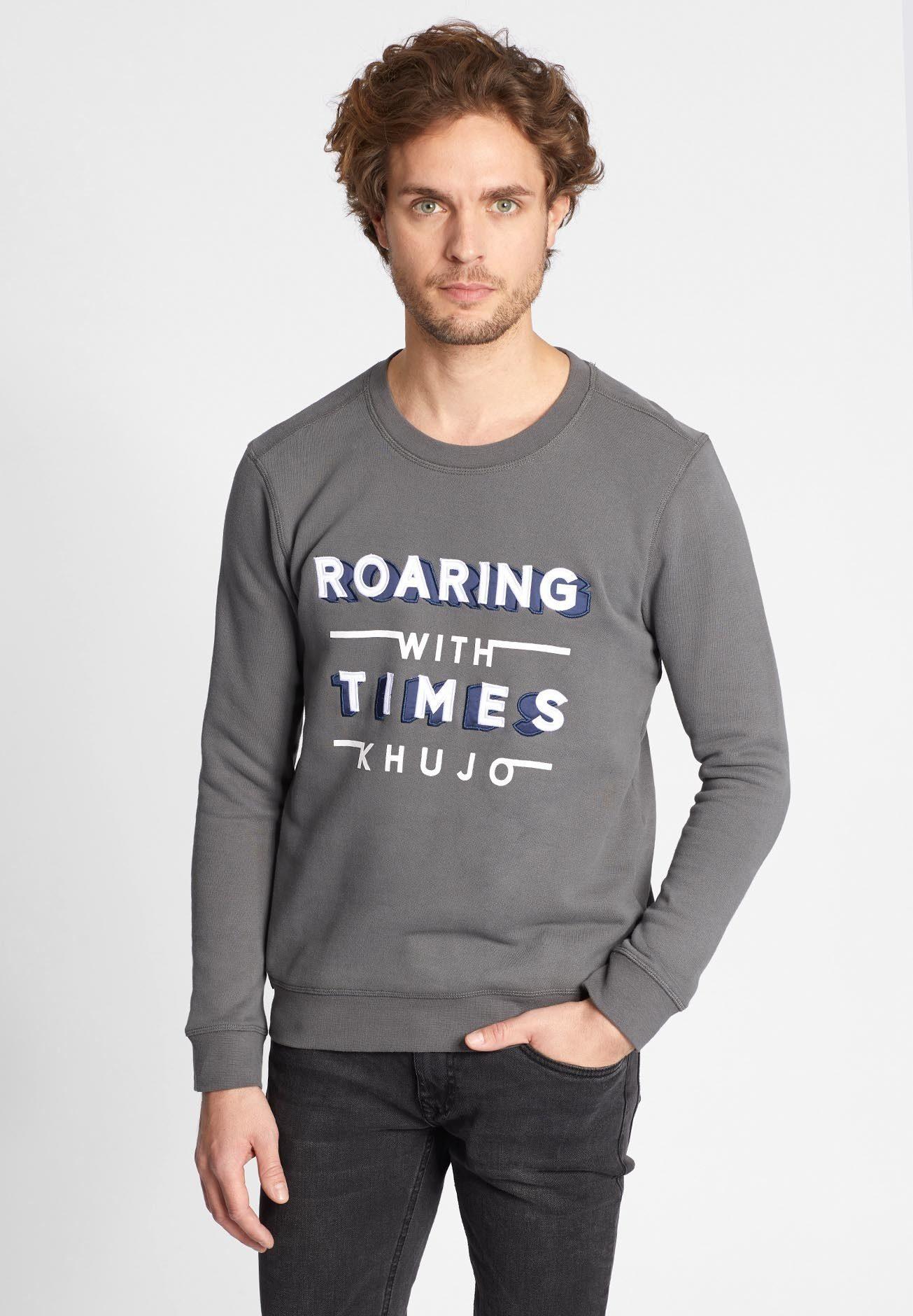 Herren khujo Sweatshirt »WADITO« mit Print auf der Front  | 04056852588803