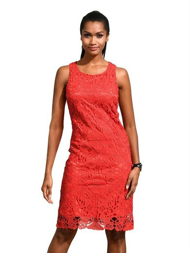 Alba Moda Shift Dress With Allover Lace
