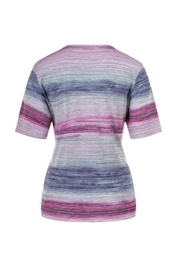NAVIGAZIONE Rundhalsshirt, modischer Farbverlauf, angenehmes Tragegefühl