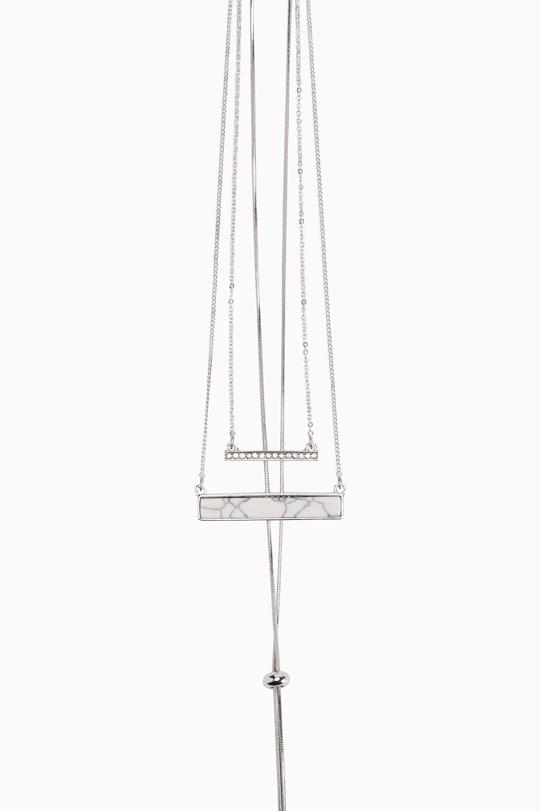 Next Mehrreihige Halskette mit Stab