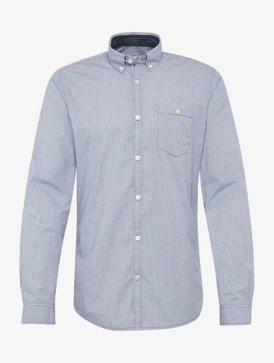 Tom Tailor Langarmhemd gestreiftes Hemd mit Brusttasche