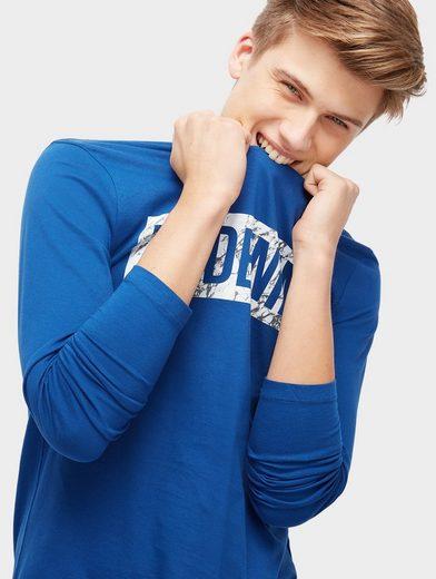 Tom Tailleur En Jean Manches Longues Chemise À Manches Longues Avec Logo Imprimé
